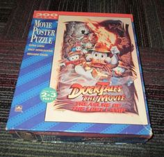 DISNEY DUCK TALES THE MOVIE TREASURE OF THE LOST LAMP MOVIE POSTER PUZZLE 300PC #DISNEY