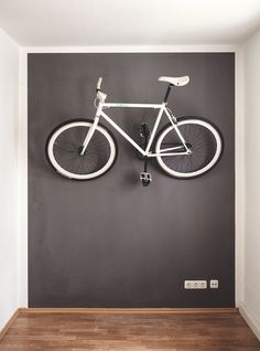 hung & centered in the living room - For more great pics, follow www.bikeengines.com