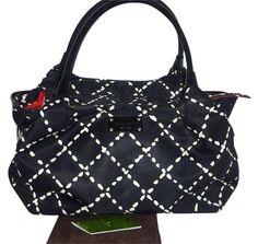 Kate Spade Lattice Print Logo Lining Shoulder Bag
