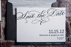 Save the Dates from Gus & Ruby Letterpress   gusandruby.com   Featured on Grey Likes Weddings   Photo by Brea McDonald Photography