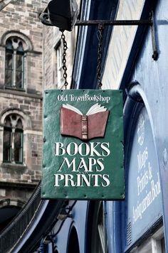 Old Town Bookshop , Edinburgh . - : Old Town Bookshop , Edinburgh . I Love Books, My Books, Edinburgh Scotland, Old Town Edinburgh, Scotland Trip, Store Signs, Book Nooks, Library Books, Book Lovers