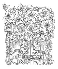 Bike and clematis from my upcoming coloringbook. I just heard that the release…