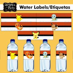 Pokemon Water labelPokemon PartyPokemon by StripesnDotsGifts