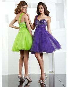 Vintage A-line One Shoulder Beading Sleeveless Short Mini Organza Cocktail Dresses Homecoming Dresses