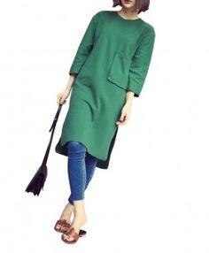 3/4 Sleeve Basic Dress