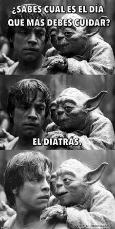 ¡JAJAJA! Ese Yoda es único.