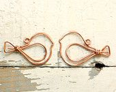 Wire Butterfly Solid Copper - Handmade Wirework Connector, Charm, or Pendant. $12.00, via Etsy.