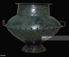 Celtic Iron Age bronze vessel from Cremation Grave 505, in Hallstatt, Austria, 6th century BC.