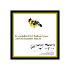 American Goldfinch m2 brick / peyote by NaturalWondersByCari