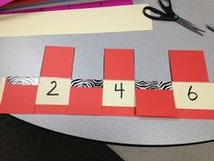 Math Coach's Corner: DIY Numeral Track. The numeral track is used to practice forward and backward counting sequences as well as number before and number after.  It can also be used to practice skip-counting by writing numbers in a skip count pattern on the sentence strip instead of sequential numbers.  It's meant to be used in a small group setting, so you can use numbers appropriate for each of your kiddos' individual needs.