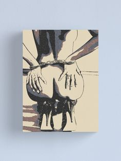 """""""Booty view, cuffed girl in high heels"""" Canvas Print by piciareiss Jeannette Mccurdy, Female Body Art, Bottle Candles, Sexy Drawings, Sissi, Canvas Prints, Art Prints, Pen Art, Surreal Art"""