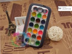 Samsung Galaxy S3 Case Samsung Galaxy S3 Phone Case Samsung Galaxy Cover Hard Plastic or Silicon Rubber Cases - Water Color SetSemi. $15.99, via Etsy.