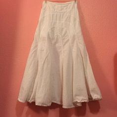 White long skirt Pre owned excellent condition/ 100% cotton Skirts Maxi