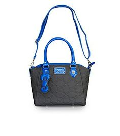 Hello Kitty Grey And Blue Embossed  Bag