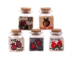 Hand Painted Glass Jars by LDDecoline on Etsy, $12.00