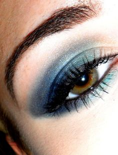 smokey navy blue eye SO Gorgeous for brown eyes!