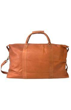 Heritage leather duffle bag