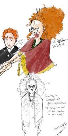 I love Makani's Trelawney.  XD, #Harry #Potter #Trelawney