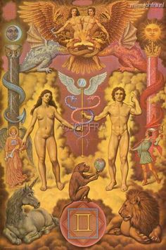 The Kybalion is an esoteric and occult book about the Hermetic Principles, was first published in 1908 in English. The book was written by three self-titled Individuals Three Initiates, and second they contain the essence of the teachings of Hermes Trisme Esoteric Art, Mystique, Adam And Eve, Visionary Art, Tantra, Sacred Geometry, Tarot Cards, Mythology, History