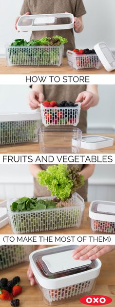 It can be hard to keep produce around without it wilting, especially if you aren't cooking it immediately. Here are some tips and tricks for storing your fresh fruits and veggies.