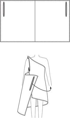 DIY Draped Dress (Wrap Dress) #tutorial --  A simple self-drafted rectangle is easily transformed into a Grecian-style beach coverup.: