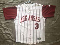 OT Sports NCAA Arkansas Razorback pinstripe jersey #3 size adult small