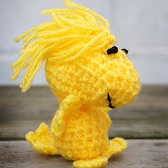 DIY Crochet Woodstock Toy. Freebie Ami, thanks so for share! xox