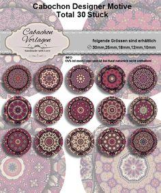 Cabochon Vorlagen Kreis Rund Download CA239 von Vintage Styler - Ihr Designer Cabochon Spezialist auf DaWanda.com