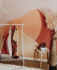 The Dunes Wallpaper Moroccan Style Bedroom, Moroccan Interiors, Bedroom Orange, Accent Wall Bedroom, Aesthetic Room Decor, Bedroom Themes, New Wall, Home Bedroom, Home Decor Inspiration