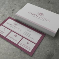 Cartão de Visita Slim - Classic - Lírio