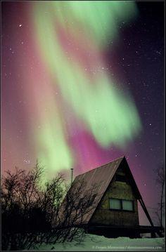 """Aurora Over A-frame"" by Dennis Mammana (TWAN)"