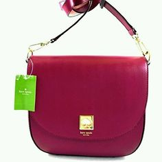 KATE SPADE New Bond Street Doreen Red Plum  X-body Shoulder Bag NWT $398.00 #katespade #CrossBodyandShoulder