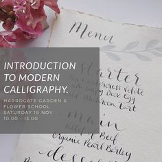 Always wanted to learn modern calligraphy? We have 1 more space on the next workshop at Harrogate Garden & Flower school. 65 includes tuition materials refreshments & your calligraphy starter kit to take home to perfect your new found skill. Would love to see you there... To book contact Jo : jobanksflowers@icloud.com #learnsomethingnew #moderncalligraphy #nibandink #calligraphy #yorkshirecalligraphy #yorkshirecalligrapher #yorkshirecalligraphyclass #learncalligraphy #sallyjanecalligraphy…
