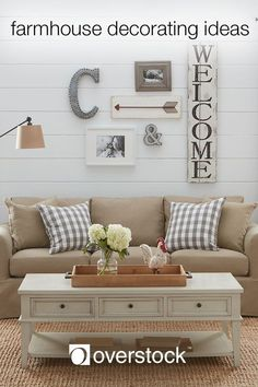 Farmhouse Decorating Ideas - Farmhouse decor embodies the simple comforts of a country home. Even if early morning chores and long days in the field are not your cup of tea, you can still capture the lived-in charm of farmhouse style with a few decorating Interior, Farmhouse Decor, Living Room Decor, Home Decor, House Interior, Apartment Decor, Room Decor, Country House Decor, Interior Design
