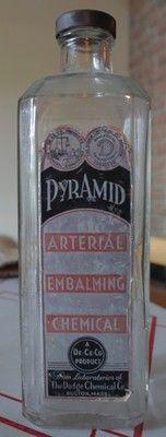 Arterial embalming chemical