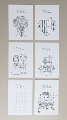 Get these FREE colouring pages for weddings!