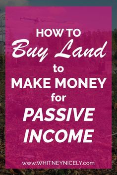Has the idea to buy land ever come to mind as a way to make money? Land presents a unique opportunity to generate passive income, and I'll show you how. Way To Make Money, Make Money Online, How To Buy Land, How To Get, Cheap Land, Investing In Land, Real Estate Auction, Wish You The Best, Real Estate Investor