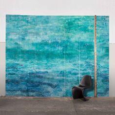 Compre Adriana e Carlota : Painel atol azul claro Adriana e Carlota por R$1141,00 - BrancoPapelDeParede
