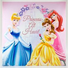 """Disney Princess - 14"""" Canvas Wall Art by Disney. $19.70. Recommended Age: 6 - 8 years. This Disney Princess 14"""" canvas wall art will brighten up any room! Features foil and glitter accents and easy wall mounting."""