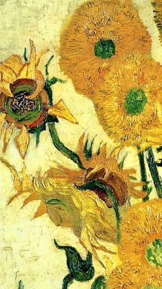 Vincent Van Gogh: Still Life - Vase with Fifteen Artist Van Gogh, Van Gogh Art, Phone Wallpapers Tumblr, Art Hoe Aesthetic, Van Gogh Paintings, Art Background, Vincent Van Gogh, Beautiful Artwork, Impressionism