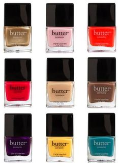 Organic Butter nail polish: Coming soon to Bliss! Safe Nail Polish, Butter London Nail Polish, Nail Polish Brands, Best Nail Polish, Nail Polish Colors, Beauty Make Up, Beauty Care, Organic Butter, London Nails