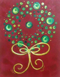 Christmas circle wreath