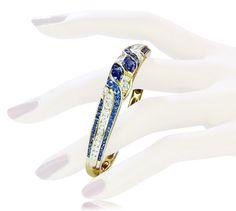 Tiffany Bracelet Sapphire Diamonds   Armreif in Gold mit 2,537ct Diamanten und Saphiren von TIFFANY