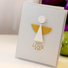 Christian Christmas Cards, Simple Christmas Cards, Christmas Card Crafts, Homemade Christmas Cards, Handmade Christmas Gifts, Christmas Cards To Make, Xmas Cards, Christmas Angels, Homemade Cards