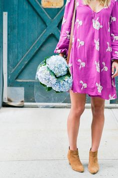 free people dress, street style, boho fashion, summer outfits, spring outfits, outfit inspiration, bohemian, ankle boots, booties, floral print