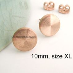 10mm Round Disc Earrings For Men Fake Plug