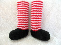 Knitted Baby Booties.....Raggedy Legs Knee Socks $23