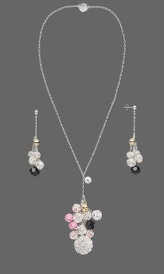 Jewelry Design - Single-Strand Necklace and Earring Set with Imitation Rhodium-Plated Brass and Egyptian Crystal Beads, Swarovski Crystal Beads and Gold-Plated and Silver-Plated Brass Beads - Fire Mountain Gems and Beads