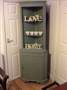 Annie Sloan Shabby Chic Style Corner Cabinet/ Shelling Unit.
