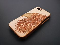 Eagle Head Cherry Wood iPhone 5s Case - Real Wood iPhone 5 Case - Custom iPhone 5s Case Wood - Wooden iPhone 5 Case - Christmas Gift
